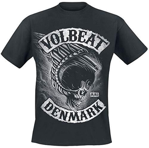Volbeat Flying Skullwing Männer T-Shirt schwarz L 100% Baumwolle Band-Merch, Bands, Totenköpfe