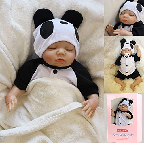 ZIYIUI Reborn Babys Puppe Junge 18''/45cm Lebensechte Reborn Puppe Weiches Silikon Vinyl Handgemacht Reborn Puppe Junge Mädchen Spielzeug Weihnachts Geschenk