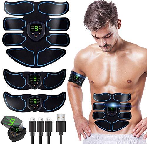 MATEHOM SHENGMI Muskelstimulator, Bauchmuskeltrainer mit 6 Modi & 10 Intensitäten - Hilfe beim Abnehmen, Muskelaufbau und Figurformung - Bauchmuskeltrainer Muskeltrainer für Männer & Frauen