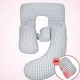 WJL En forma de U mujer embarazada acostado de lado Soporte lumbar soporte...