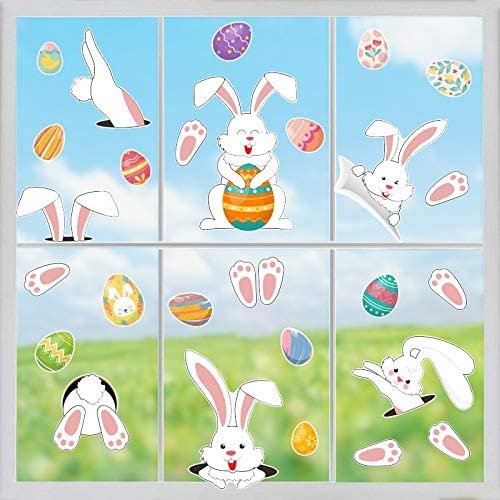 Free shipping on posting reviews 4 Sheets Easter Theme Stickers(Dou Decoration Kitchen、Window Bargain