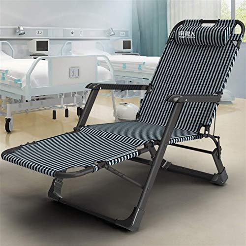 Tumbonas y sillones reclinables para jardín Tumbona Silla Ajustable con cojín Muebles de Exterior Cama Plegable Negra para la Playa Piscina Patio Exterior Jardín Camping, 100 kg máx.