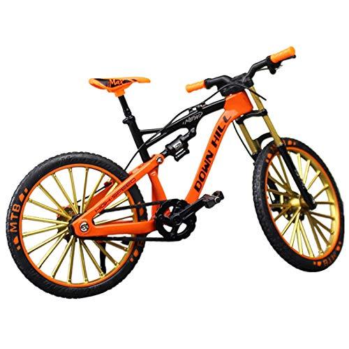 GeKLok 1:10 Bicicleta para niños, Finger Bikes BMX, Finger Mountain Bike, Miniatura Dedo Montaña Bicicleta Modelo Juguete Estilo Libre Bicicleta Mini Modelo de Bicicleta Ornamento