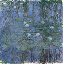Oil Painting 'Nympheas Bleus (Blue Water Lilies) , 1916-1919 By Claude Monet' 18 x 18 inch / 46 x 46 cm , on High Definition HD canvas prints is for Gifts And Bar, Game Room And Gym decor, for sale