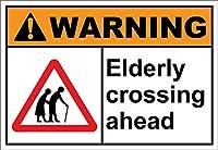 165新しいブリキサイン高齢者交差点警告アルミニウム金属道路標識壁装飾8x12インチ