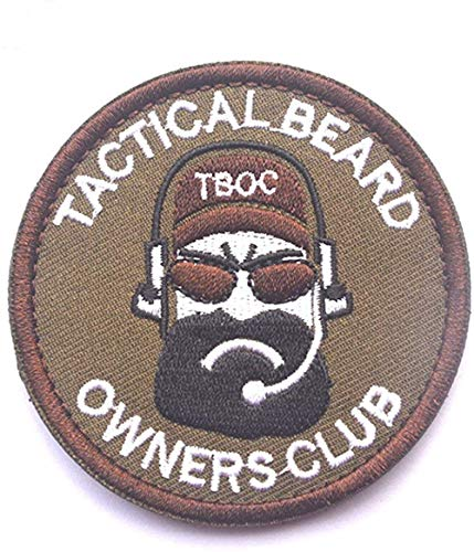 ANNIUP Patch Tactical Beard Owners Club BREAD MAN Embroidery Armband Morale Patch 3D Rubber Badge Fabric Armband Sticker Military 7CM