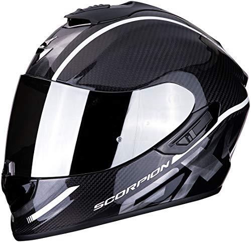 Scorpion Unisex– Erwachsene NC Motorrad Helm, Schwarz/Weiss, XL