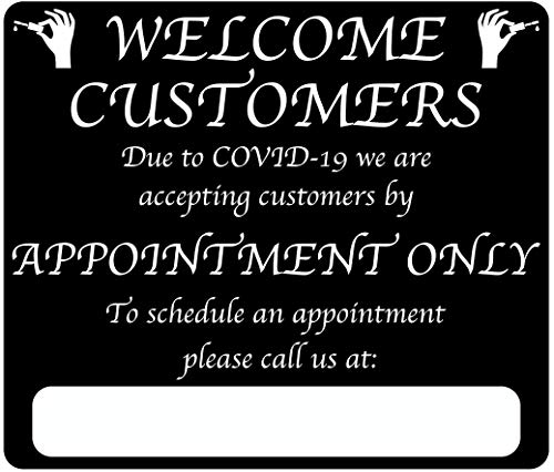 """Nail Salon """"by Appointment Only"""" COVID-19 (Coronavirus) Durable Vinyl Banner- 36x24' Sign by Graphical Warehouse- Safety and Security Signage, Visual Communication Tool"""