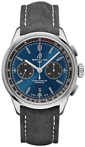 Breitling Premier B01 Chronograph 42 blaues Zifferblatt AB0118A61C1X4