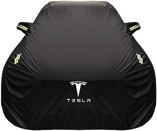 Old street Car cover Autoabdeckung Tesla Modell S Spezial Autoabdeckung Autokleidung Dicke Oxfordtuch Sonnenschutz Regenschutz Autopouch Autoabdeckung Oxford Cloth   Built in lint