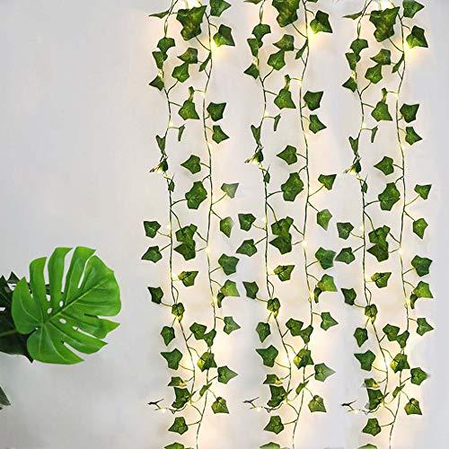 Vine String Lights, [1 Pack] Ivy String Lights, Maple Leaf Garland Wreath Hanging lamp (Battery Powered) Fairy Night Lights for Home/Wedding/Party/Garden Decoration (6.5 ft, 20 LEDs)