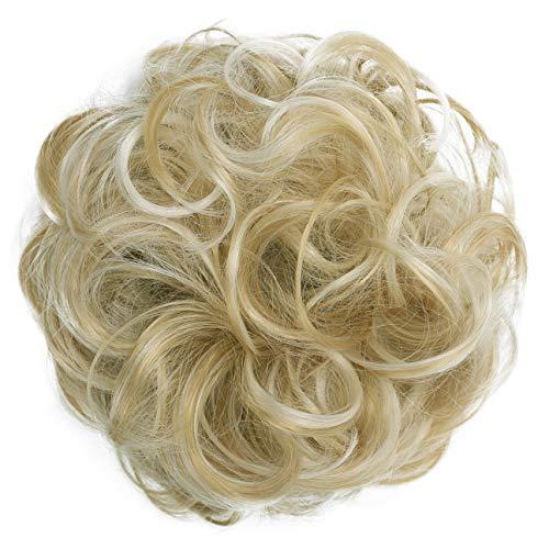 PRETTYSHOP Haarteil Haargummi Hochsteckfrisuren Brautfrisuren Voluminös Gelockt Unordentlich Dutt Blond Mix G30A