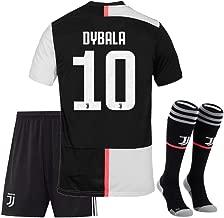 JUVE-JS Juventus #10 Dybala Home Soccer Shirt & Shorts & Socks 19-20 for Kids and Youth White/Black