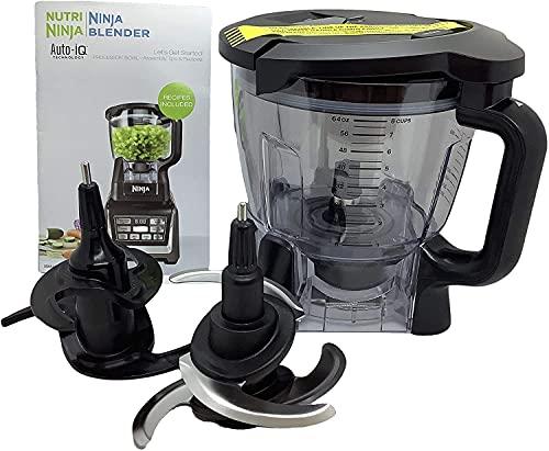 Ninja 64oz (8 Cup) Food Processor Bowl Locking Lid Blade Kit for BN801 BL910 BL680 BL681 BL682 BL640 BL641 BL642 Blender