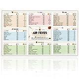 Guía de referencia rápida para horarios de cocción de freidora de aire, etiquetas magnéticas y calcomanías, imanes, accesorio imprescindible para freidora de aire (10.25 x 6.25 pulgadas)