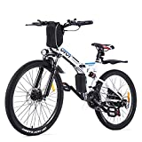 VIVI Folding Electric Bike Electric Mountain Bike 26' Lightweight Electric Bicycle 350W Ebike, Electric Bike for Adults with Removable...