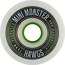Hawgs Wheels Mini Monster White Skateboard Wheels - 70mm 80a (Set of 4)