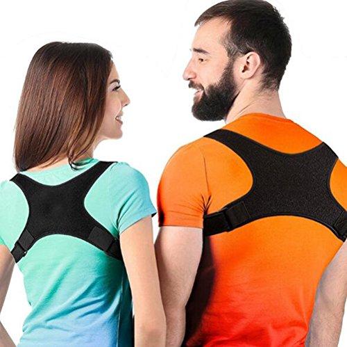 Yuan Ju Corrector de Postura Posterior, Soporte Brazalete Recto Ajustable para Hombres y Mujeres Alivio del Dolor en la Espalda, Hombro y Cuello (Style : C)