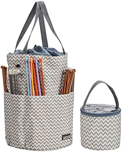 HOMEST XL Yarn Storage Tote Tangle Free with 6 Oversized Grommets Knitting and Crochet Organizer product image