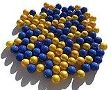 Fairy Taill & Glitter Fee 100 Unidades Cristal Murmeln Azul Oro Murmeln 16 mm Cristal Piedras Murmel Vasen-Füllungen Azul Dorado Murmeln Glitzersteine Dekoschalen Murmelspiel Vidrio