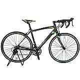 【STI ロードバイク TOTEM】デュアルコントロールレバー 15B408 黒 超軽量アルミフレーム クイックハブ 700×480mm