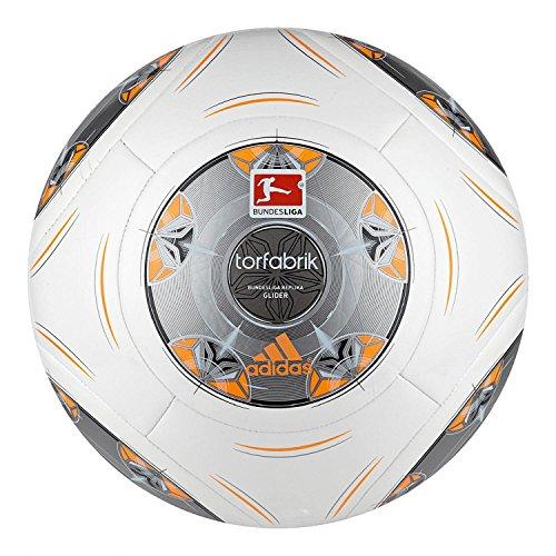 adidas Fußball Torfabrik 2013 DFL 13 Glider, Wht/Silver/Zest/Mtsil, 5, G73545