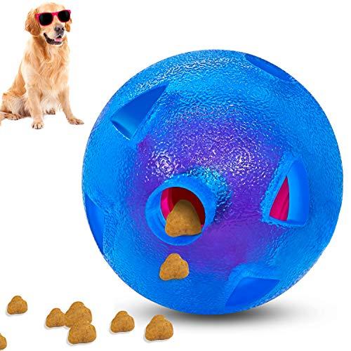 Dog Treat Ball | Indestructible Dog Chew Toy Perfect for Large Medium Small Dog | Dog Puzzle Toys | Interactive Dog Toys | Dog Balls for IQ Training,Entertainment Interaction & Slow Feeding