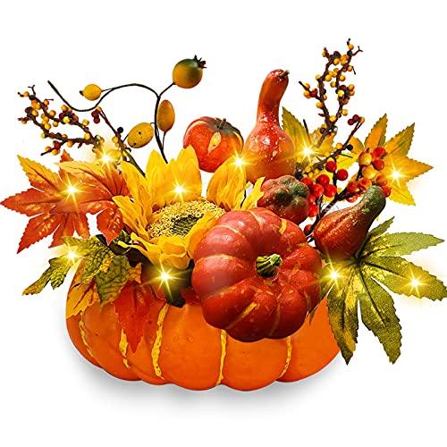 TURNMEON 8.5 Inch Large Pumpkin Centerpiece