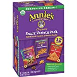 Annie's Variety Pack Cheddar Bunnies, Bunny Grahams, Cheddar Squares, 12 ct