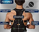 OMONLINE Doctor Posture Corrector Shoulder Back Bone Braces Support Belt for Men and Women | Lumber Chest Support Pain Relief for Neck Shoulder