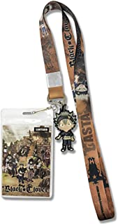 Black Clover Anime SD Asta Lanyard with ID Badge Holder & PVC Charm