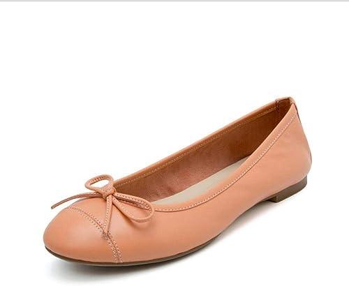 Femme Cuir Loafers Mocassins Fée Chaussures Arc-en-Ciel Bow Chaussures de Sport