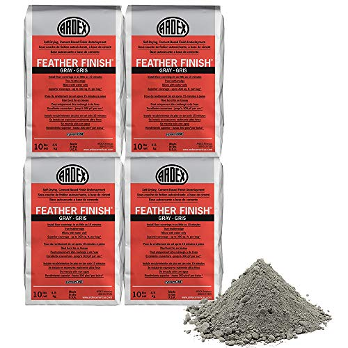 Ardex Feather Finish Grey/Gray/Gris Self-Drying Cement Based Pack of 4 Bags 10 Lbs