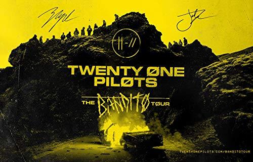 Rock-Poster 21 – The Bandito Tour signierte Poster und Drucke, ungerahmt, Wandkunst, Geschenke, Dekoration, 11 x 17 cm 11x17 21 Pilots 01 - Trench