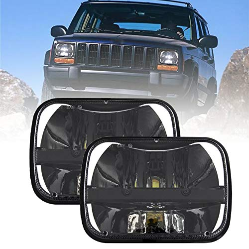 SKTYANTS a pair Rectangular 5''x 7'' Inch headlight led trucklight High Low Beam Headlamp for jeep Wrangler YJ Cherokee XJ Trucks 4X4 Offroad (2 pcs)