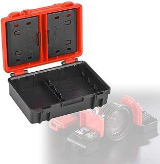 A sixx Armazenamento de cartão de memória, leve, resistente, portátil, à prova de poeira, caixa de bateria para fotógrafo,...