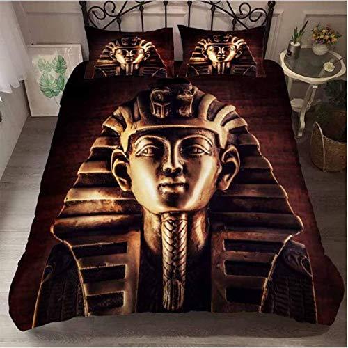 Nat999Lily bedding set 3d print Egyptian pharaoh duvet cover set and pillowcase bedding set king size home textiles Egyptian Fashion Home Textile 220x240cm