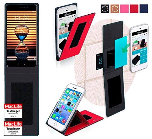 reboon Hülle für Meizu Pro 7 Plus Tasche Cover Case Bumper   Rot   Testsieger