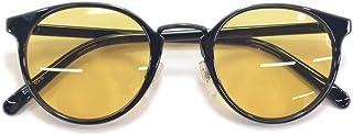 サングラス 伊達メガネ メンズ レディース ボストン 丸メガネ 薄い色 色付き ライトカラーレンズ