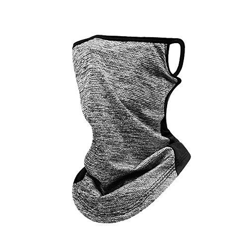 Rpanle Multifunktionstuch Motorrad Halstuch Bandana Schlauchschal Laufschal Sommer Loopschal, UV Schutz Schlauchtuch für Damen Herren Grau