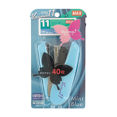 Max Vaimo 11 Style Stapler - 40 Sheets Max - Mint Blue