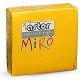 Astor PZ 200 TOVAGLIOLI Giallo Mais CM 38 X 38 Simile al Tessuto Doppio Velo di CELLULOSA Paper Yellow Napkins