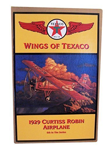 Wings of Texaco - 6th in the Series - 1929 Curtiss Robin Airplane Diecast Metal Coin Bank by Wings of Texaco