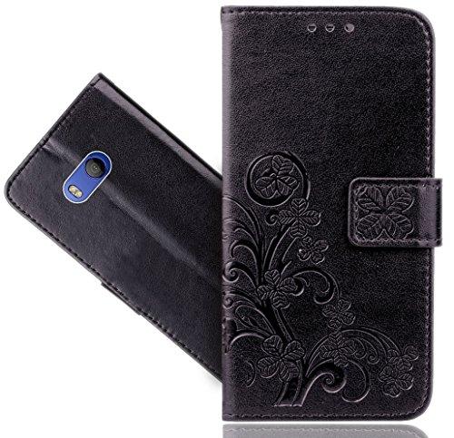 Preisvergleich Produktbild HTC U11 Handy Tasche,  FoneExpert® Blume Wallet Case Flip Cover Hüllen Etui Hülle Ledertasche Lederhülle Schutzhülle Für HTC U11