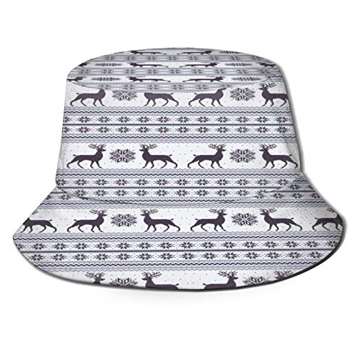 Fishing Hat,Christmas Reindeer Style Blue,Hiking Boonie Safari Sun Caps Traveling for Men&Women for Outdoor Gardening
