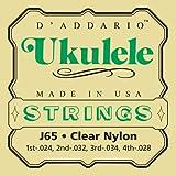 D'Addario J65 - Juego de cuerdas para dulcémele, oud, ukelele de nylon