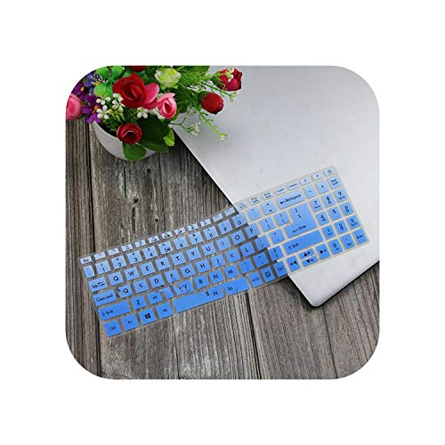 F-pump Funda protectora transparente para teclado de ordenador portátil Acer Aspire 5 A515-43 A515-54 A515 52 57Mu A515 52G Swift 3 15,6 pulgadas, color azul