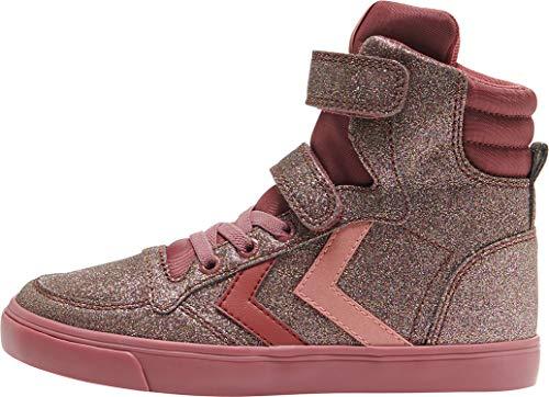 hummel Mädchen Slimmer Stadil Glitter Jr Hohe Sneaker, Roan Rouge, 37 EU