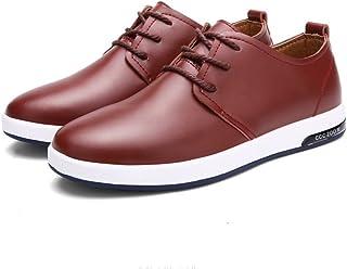 [QIFENGDIANZI] デッキシューズ メンズ カジュアルシューズ 靴 ドライビングシューズ スニーカー 紳士靴 ローカット アウトドア レースアップ オシャレ スリッポン コンフォート ブルー ブラック レッド
