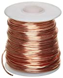 Bare Copper Wire, Bright, 20 AWG, 0.032' Diameter, 315' Length (Pack of 1)